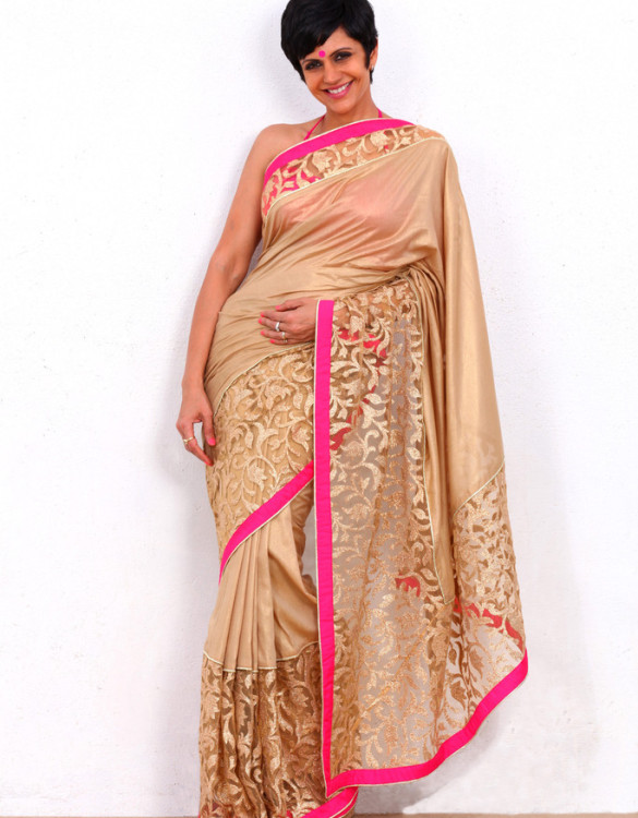 GOLD ZARI WORK SAREE