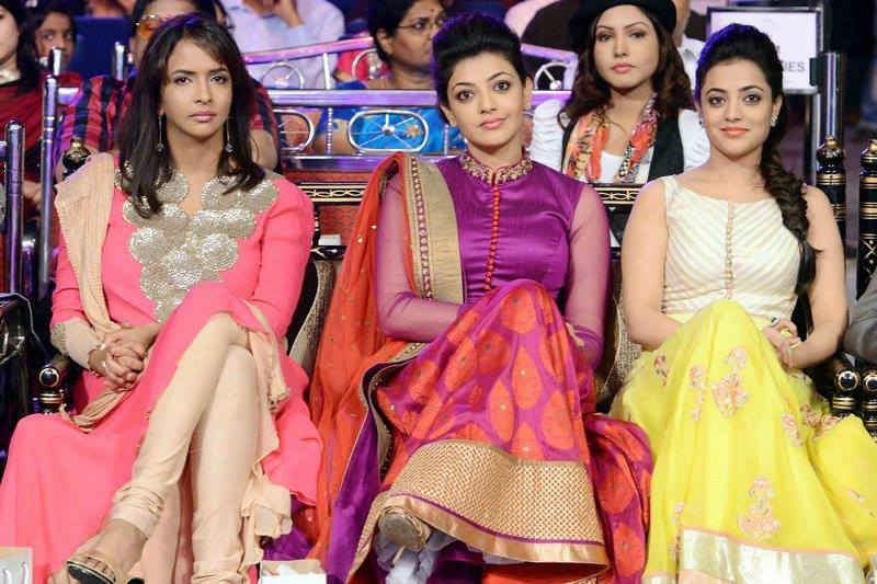 nisha, kajal ,lakshmi in anarkali suits latest
