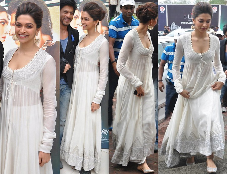 deepika padukone in desgner anarkali dress