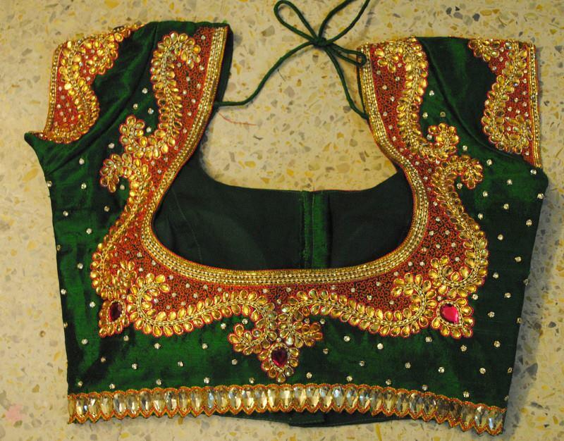 heavy stone work blouse