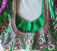 heavy work blouse back design