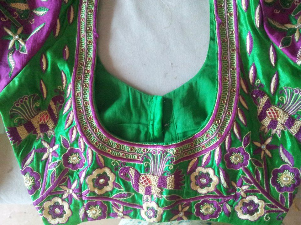 heavy work blouse back design