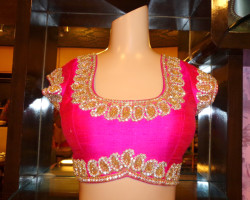 pattu blouse back neck designs