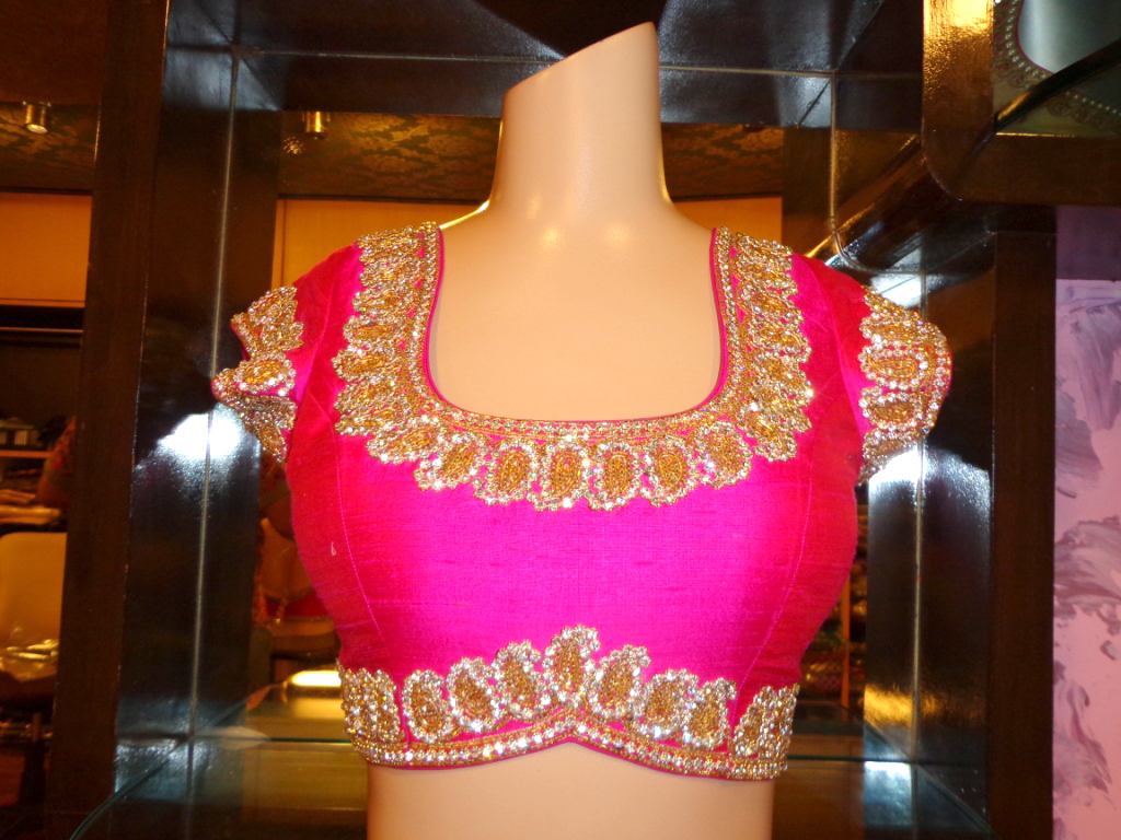blouse front neck design