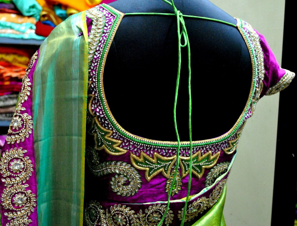 Hand Embroidery Designs For Blouse Neck - Blouse Styles