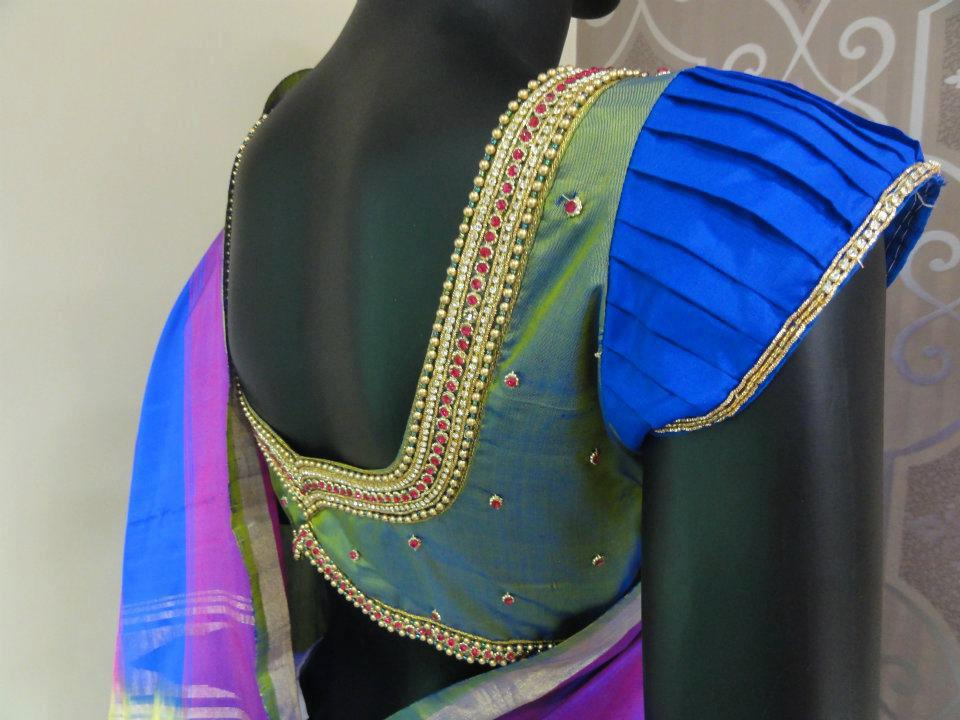 saree blouse designs for wedding