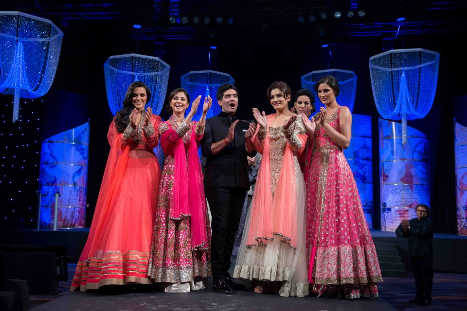 celebrities in manish malhotra lehenga