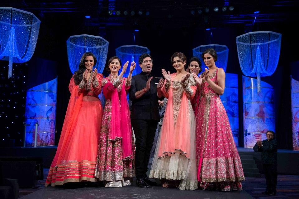 celebrities in manish malhotra lehenga
