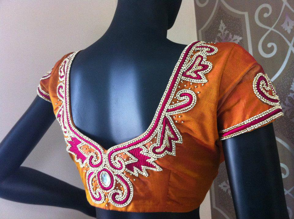 latest bridal saree blouse designs