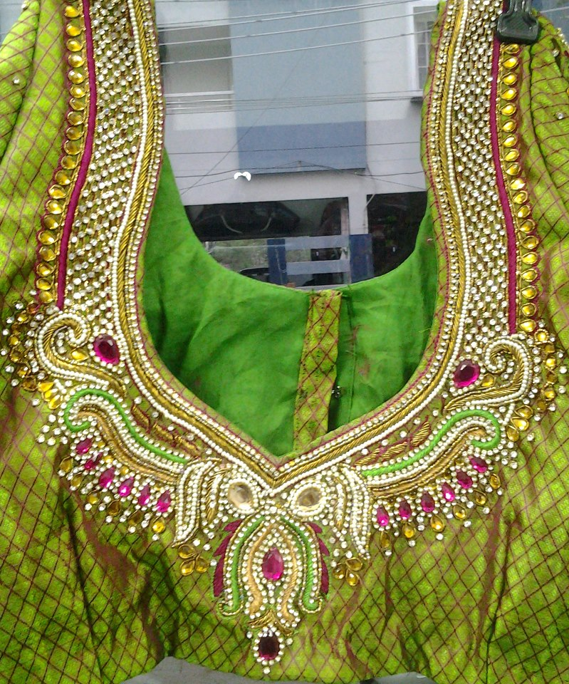 jewellery blouse design