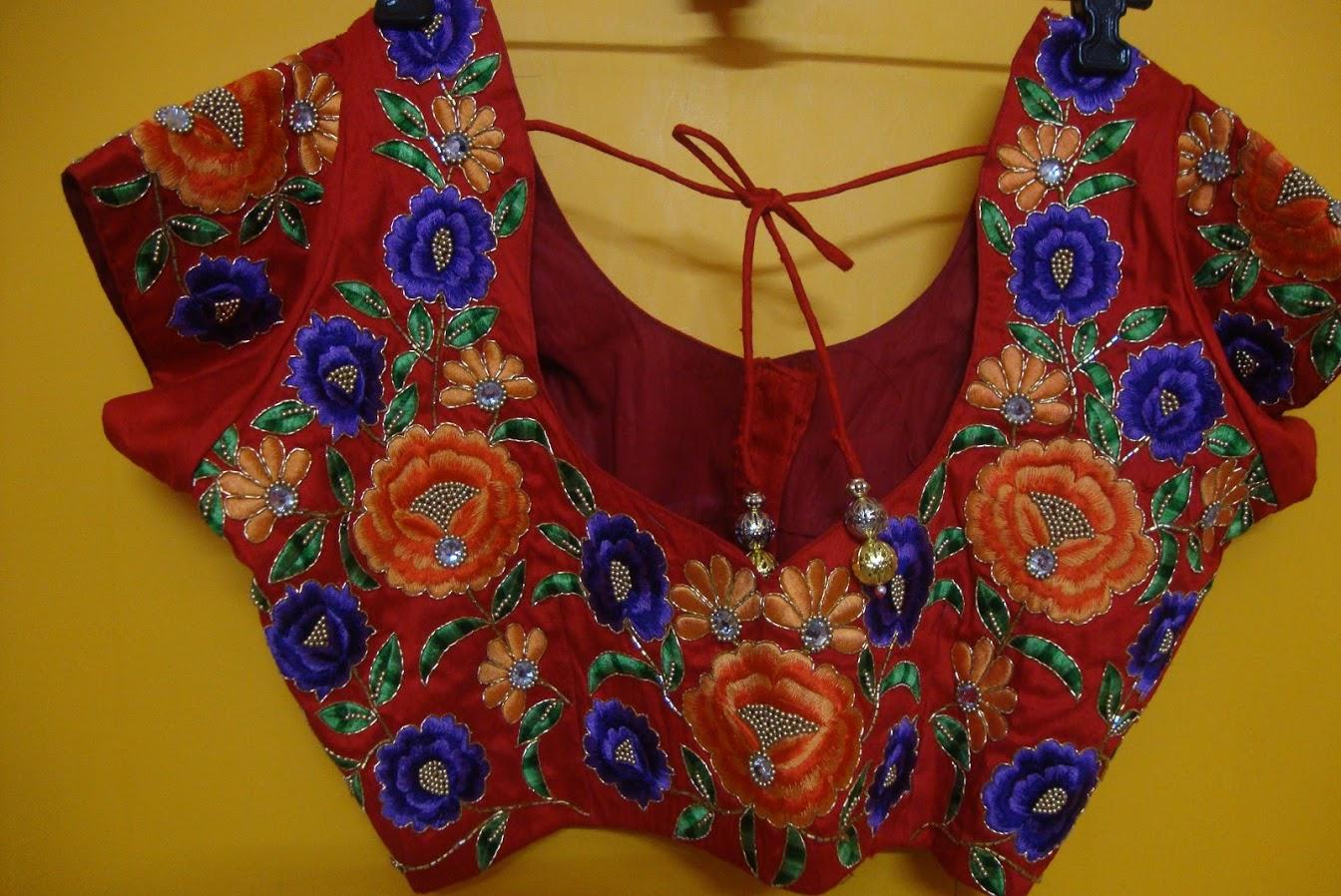 designer work blouses