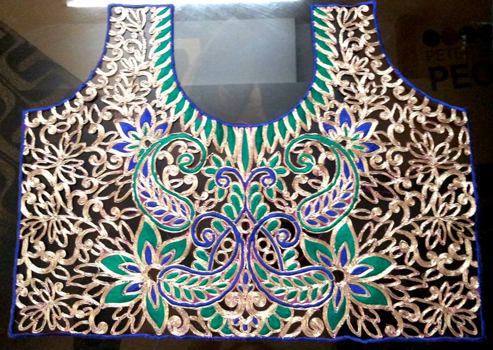 cut work blouse back design