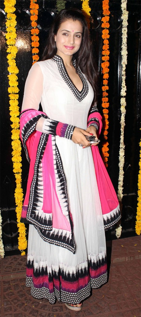 amisha patel in long anarkali suits