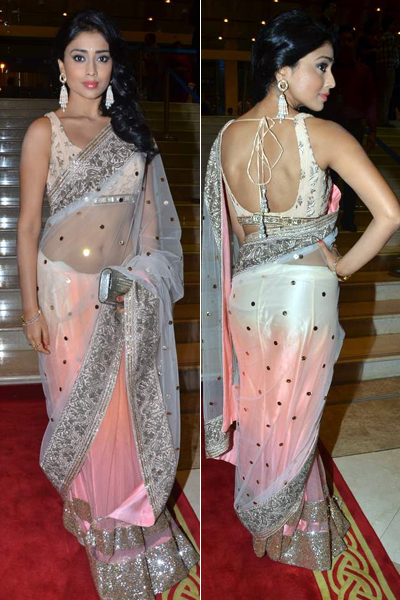 shriya in manish saree