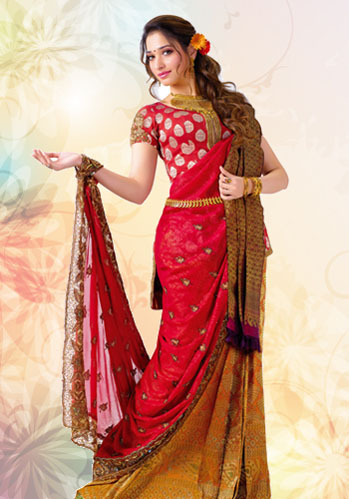 tamanna in designer saree
