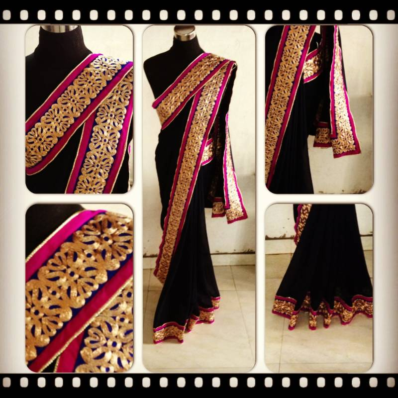 georgette sarees for wedding
