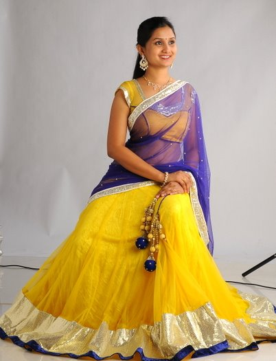 half sarees online shopping