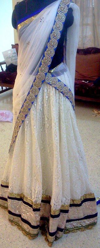 half saree price