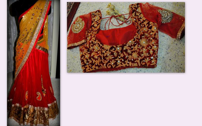 latest half sarees