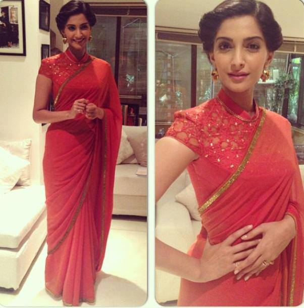 sonam kapoor in tarun tahiliani saree