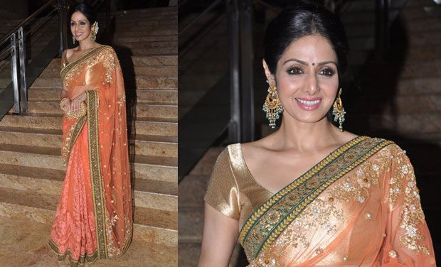 SRIDEVI IN WORK SAREE