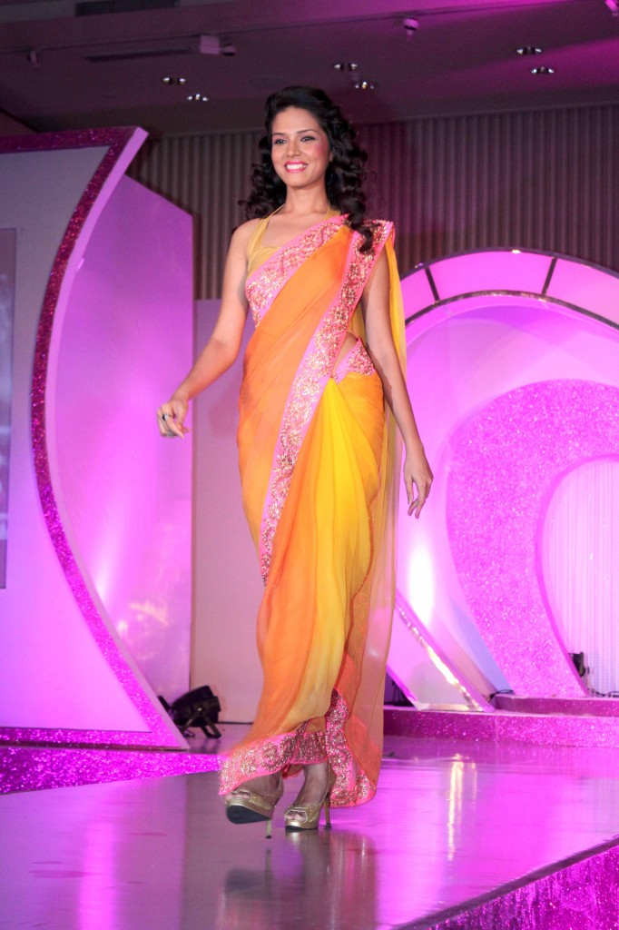 plain ornge saree