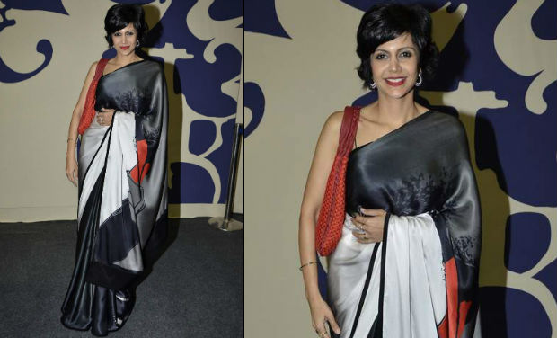 mandira bedi in designer saree