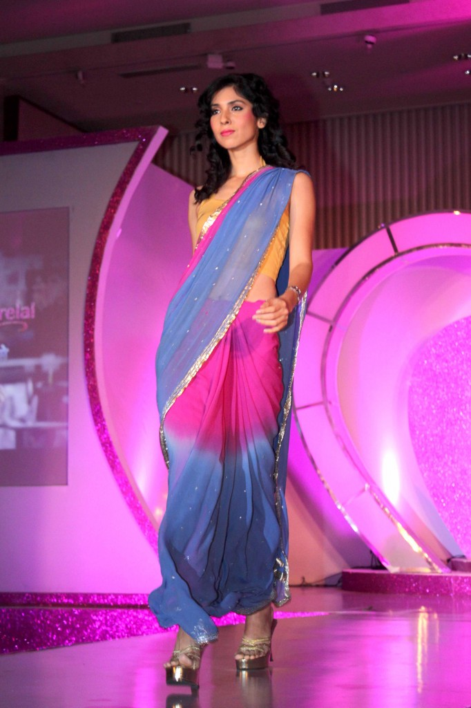 dual color saree