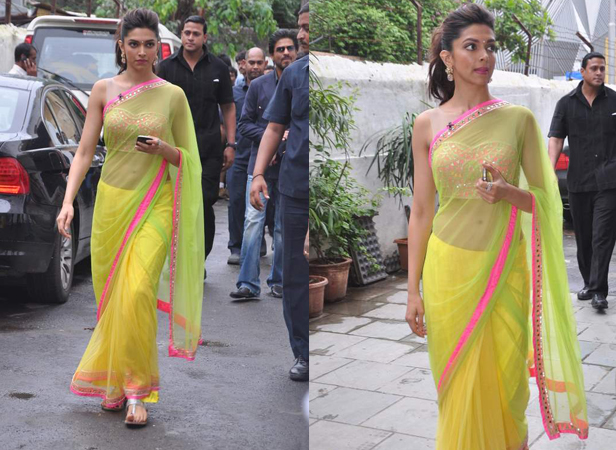 deepika in arpita mehta saree