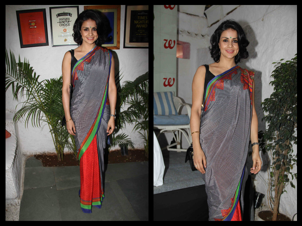 Gul-Panag  half and saree