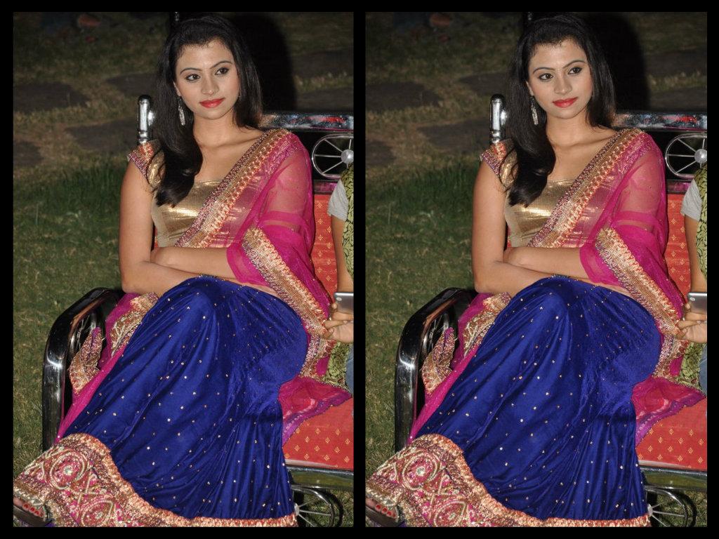 Priyanka in blue designer lehenga