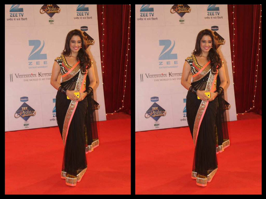Srashti Rode in designer  black saree