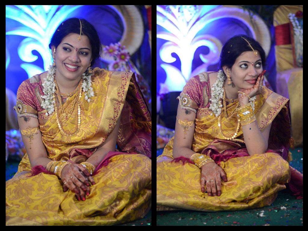 geetha madhuri in bridal  pattu saree