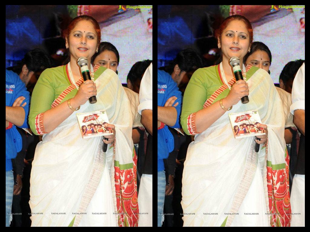 jayasudha in white cotton saree