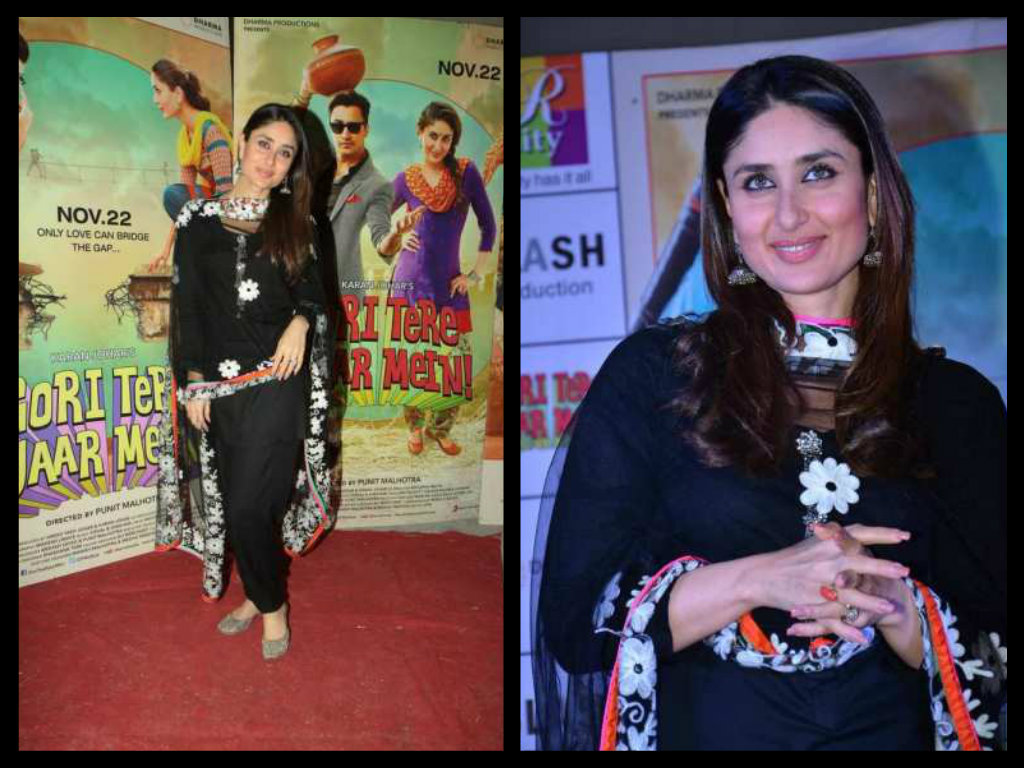 kareena kapoor in designer  black salwar kameez
