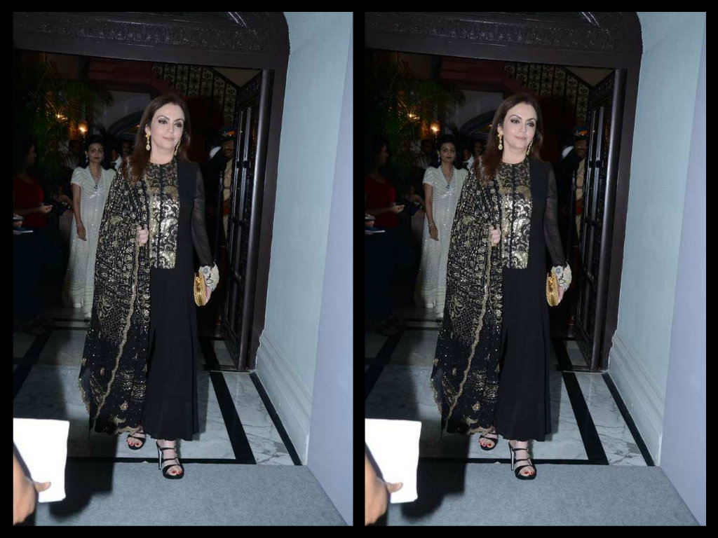 neeta ambani in balck anarkali suit