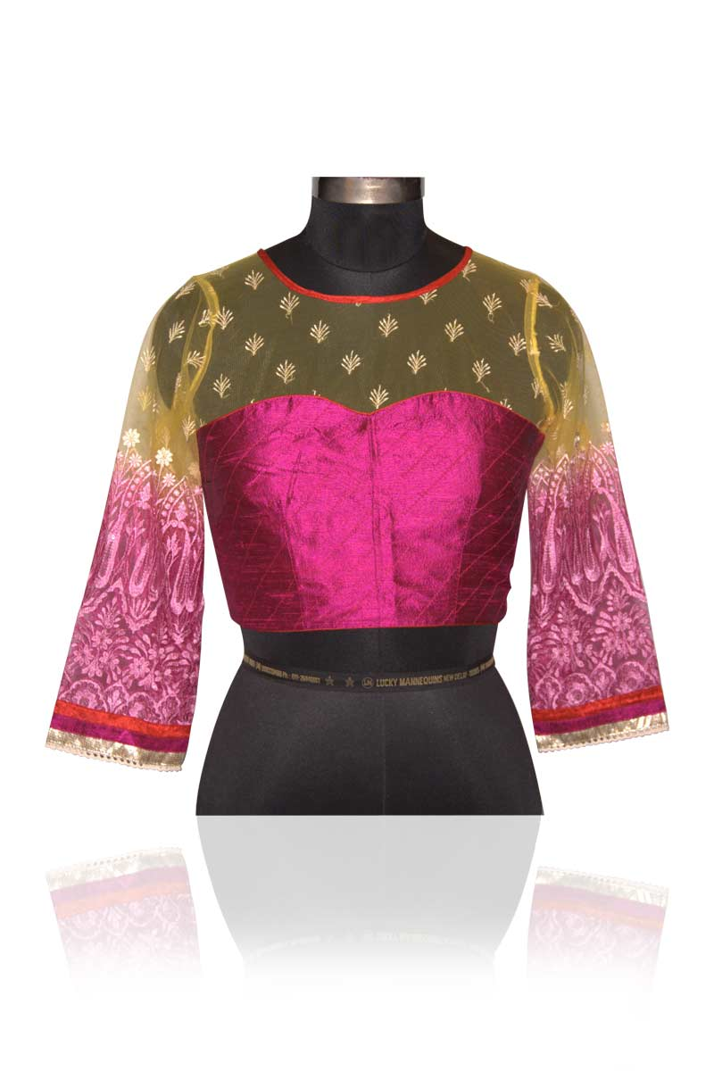 net saree blouse design