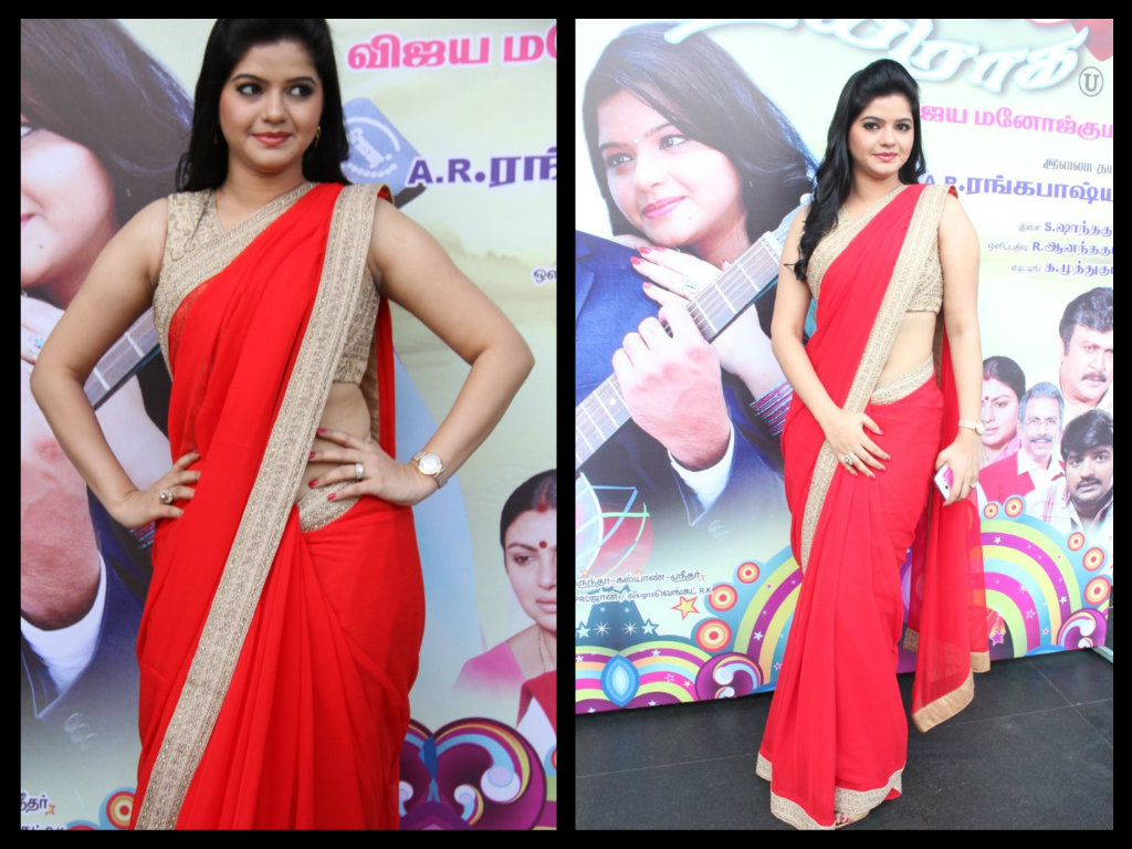 preethi das  red saree