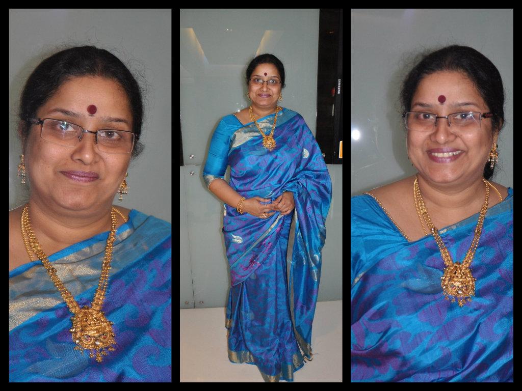 tulasi in traditional silk saree