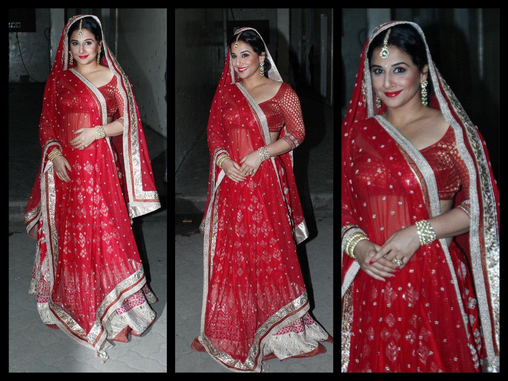 vidya red saree