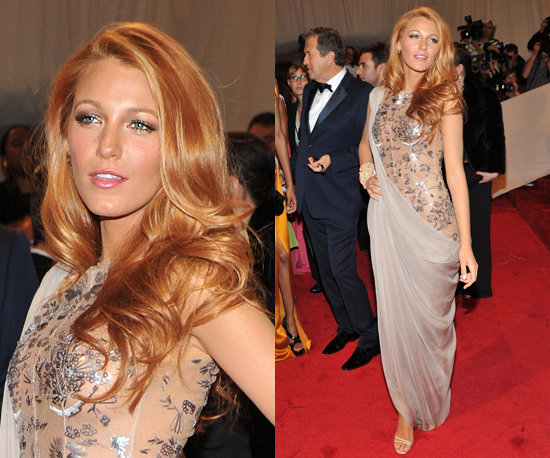 Blake Lively saree gown