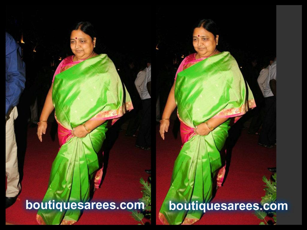 Panabaka Lakshmi in silk saree
