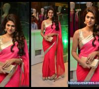 Shradda Das in pink saree blouse
