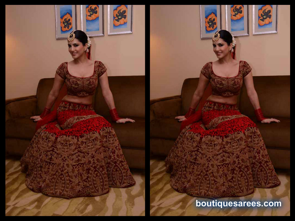 Sunny Leone in bridal lehenga