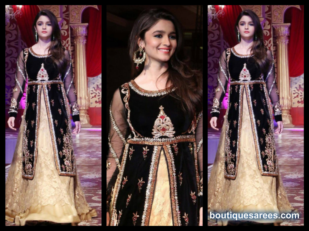 alia bhatt in bridal lehenga choli