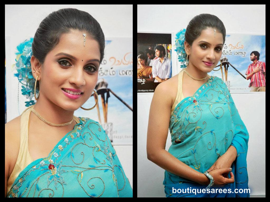 ammu in saree blouse