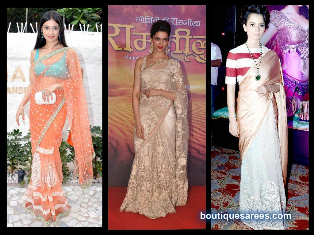 bollywood actress in sabyasachi sarees