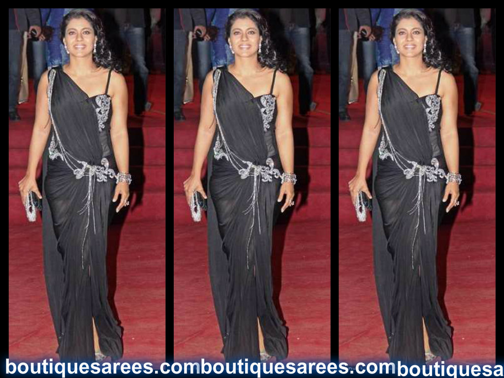 kajol in black saree