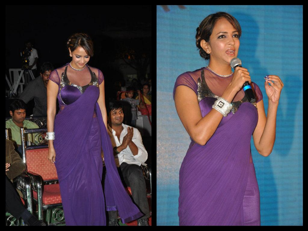 lakshmi in sleeveless saree blouse design