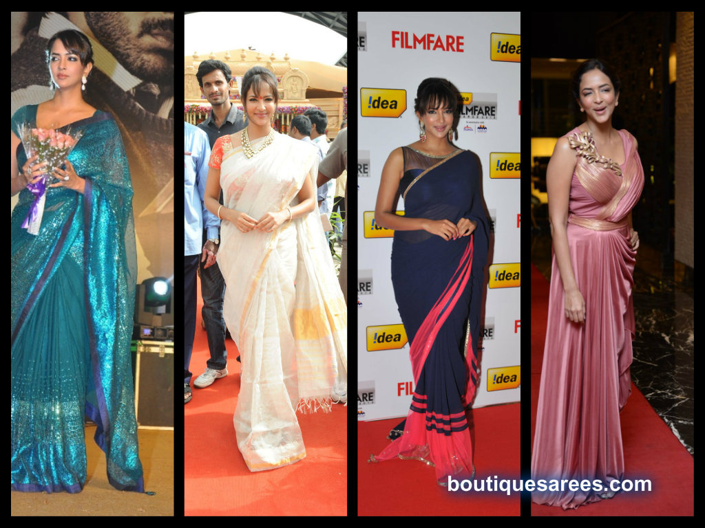 manchu lakshmi saree collection 2013